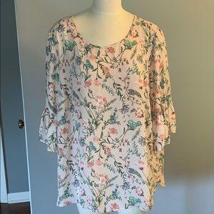 Violet+Claire floral  blouse size 2x